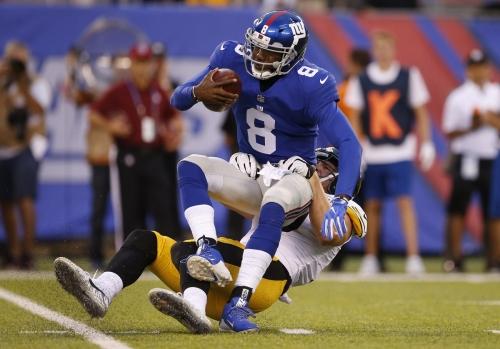 Geno Smith, Josh Johnson struggle in Giants' loss to Steelers