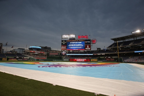 Friday night's Giants-Nationals game postponed due to inclement weather