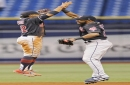 Cleveland Indians' Carlos Carrasco puts foot on the gas at his home away from home at The Trop