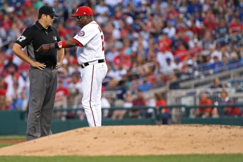 Washington Nationals' skipper Dusty Baker & San Francisco Giants' Bruce Bochy moving up on all-time wins list...