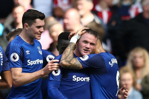 Rooney thrilled to score in return to Goodison