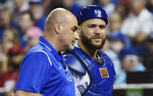 Blue Jays catcher Martin hits disabled list