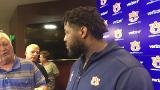Auburn OT Darius James after the 2nd preseason scrimmage