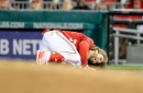 Nats' Bryce Harper leaves game with apparent left knee injury