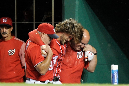 Washington Nationals 3-1 over San Francisco Giants; but Bryce Harper suffers ugly injury in D.C.