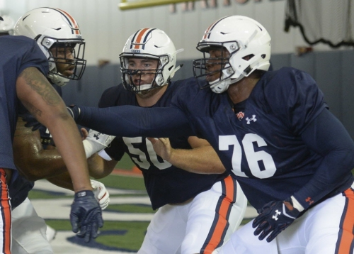 Prince Tega Wanogho Jr.'s rise at left tackle could shake up Auburn's offensive line