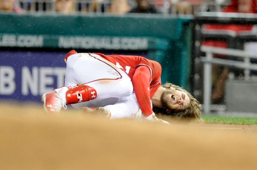 Giants notes: Bryce Harper avoids ligament damage, Giants add extra man for doubleheader