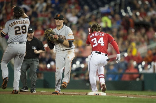 Washington Nationals' prayers answered: Bryce Harper suffers significant bone bruise, but should be back later this season...