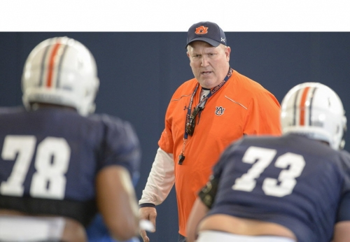 Auburn 'trying to settle in' on offensive line this week