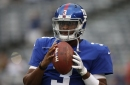 Giants make Geno Smith run lap after fumble results in a safety