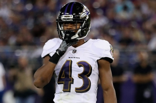"Ravens CB Jaylen Hill on his great game against Washington, ""It's on to Miami now."""
