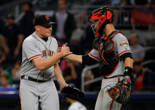 Giants' Bochy in no hurry to throw Mark Melancon back into closer role