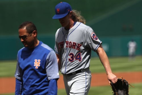 Noah Syndergaard changes workout return, aims to return to Mets
