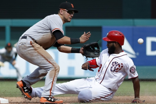 Washington Nationals place Brian Goodwin on 10-Day DL; Alejandro De Aza up from Triple-A