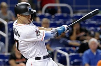 Stanton's HR streak comes to an end as Marlins' finish off series win vs. Giants