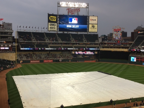 Cleveland Indians, Minnesota Twins postponed because of rain; double header scheduled for Thursday
