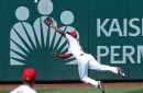 Michael A. Taylor is back in the Washington Nationals' outfield, ready to catch every ball hit anywhere near him...