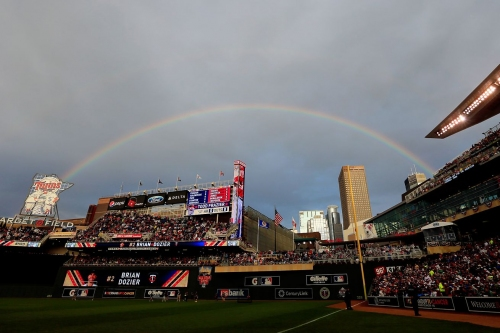 Cleveland @ Minnesota game rained out, doubleheader tomorrow