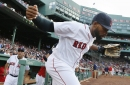 Jackie Bradley Jr.'s dream play? Making catch while standing on right-center fence