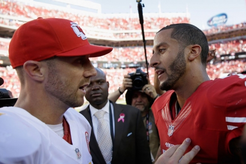 Alex Smith asked about Colin Kaepernick, says a lot has changed since they were teammates