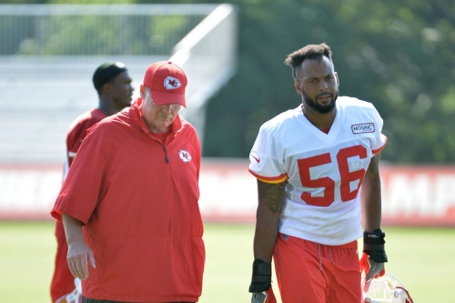 Chiefs coach Andy Reid appreciates this terrific weather lately just like you