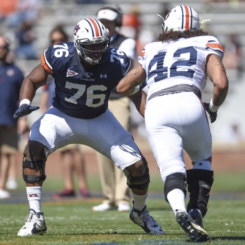 Protective instinct serving Prince Tega Wanogho Jr. well in quest for starting job at Auburn