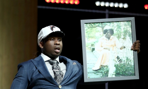 Falcons rookie Takk Mckinley when he was drafted: 'I'm a (expletive) first-round pick!'