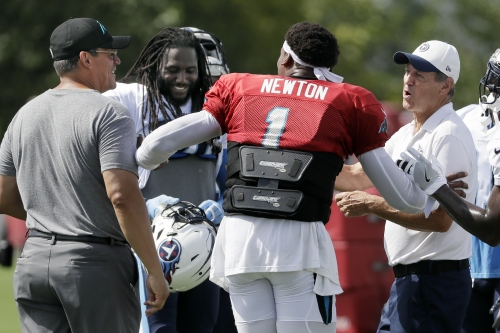 Newton throws more, but Titans handles sloppy Panthers The Associated Press