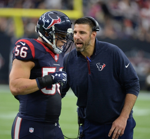 Former Chiefs LB Mike Vrabel a hit as Texans defensive coordinator