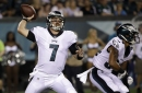 Philadelphia Eagles' Dane Evans goes 9-for-12 in Thursday NFL preseason game