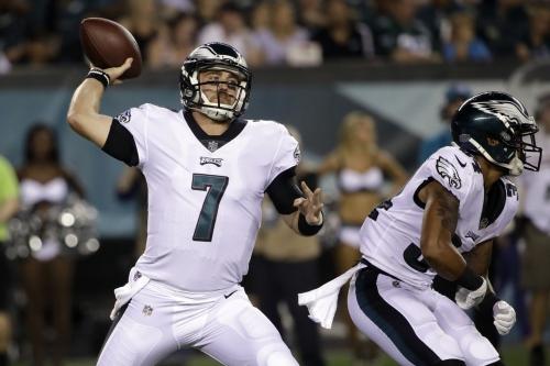 Philadelphia Eagles' Dane Evans goes 9-for-12 in Thursday NFL preseason game