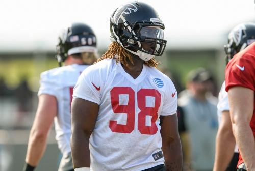 Falcons rookie Takk McKinley to make NFL debut vs. Steelers