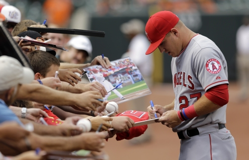 Angels Notes: Baltimore an almost-homecoming for Mike Trout
