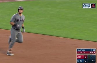 HIGHLIGHTS: Peralta homers right down left-field line