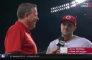 Adam Duvall explains his and Joey Votto's botched dugout celebration