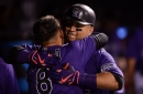 Carlos Gonzalez lines one of three Rockies HRs as Colorado wins a critical opener over the Brewers
