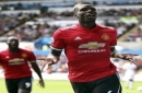 Manchester United's Paul Pogba celebrates scoring his side's third goal, during the English Premier League soccer match between Swansea and Manchester United, at the Liberty Stadium, in Swansea, Wales, Saturday Aug. 19, 2017. (Nick Potts/ PA via A