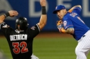 Marlins can't rebound after Mets score 7 in the 6th inning