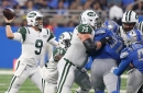 Jets' offensive line shows its depth — but not in a good way