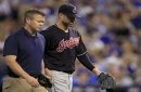 Cleveland Indians' Corey Kluber tests right ankle in Sunday bullpen session