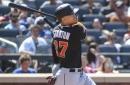 Giancarlo Stanton hits 3-run homer, his 45th of the year