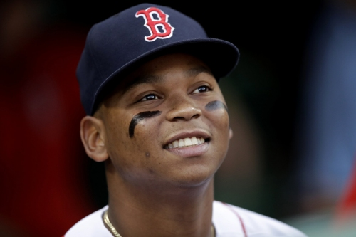 Rafael Devers batting fifth in Boston Red Sox lineup vs. Indians; he's already 8-for-12 with 2 HRs vs. Cleveland