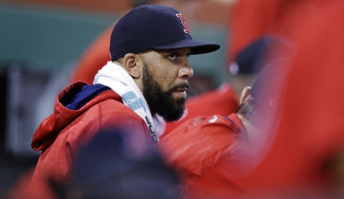 David Price, Boston Red Sox lefty, throws for the first time in six days (60 feet)
