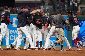 Brandon Guyer scores winner on Brock Holt's error, Cleveland Indians top Boston Red Sox 5-4