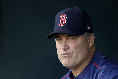 John Farrell, Boston Red Sox manager, explains using Matt Barnes in eighth; 'Addison Reed was not available'