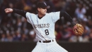 That time Rockies catcher Brent Mayne pitched a scoreless 12th inning for the win