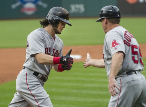 Andrew Benintendi (6 HRs in August) batting third in Boston Red Sox lineup again, Mitch Moreland (neck) returns