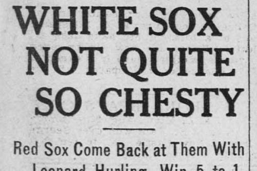Sox Century: Aug. 22, 1917
