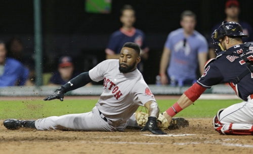 Jackie Bradley Jr. leaves Boston Red Sox game in seventh inning with left thumb injury
