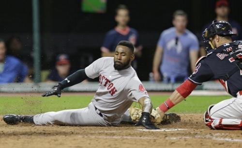 Jackie Bradley Jr's X-rays negative but Boston Red Sox CF will undergo MRI in Boston on Wednesday